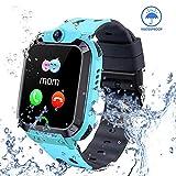Smart Watch for Kids GPS Tracker - IP67 Waterproof Smartwatches with SOS Voice Chat Camera Alarm Clock Digital Wrist Watch Smartwatch Girls Boys Birthday Presents