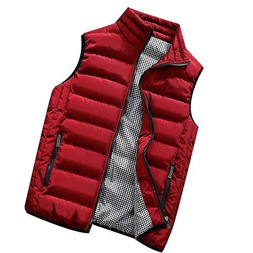 - 2019 Latest Hot Style! Teresamoon Men Autumn Winter Coat Padded Cotton Vest Warm Hooded Thick Vest Tops Jacket