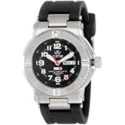 REACTOR Men's 58481 Trident Titanium Sport Watch with Rubber Strap