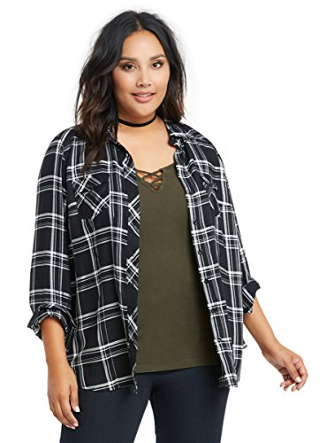 Plaid Challis Camp Shirt