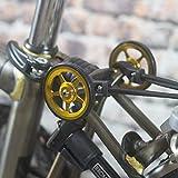 Super ligero fácil ruedas + tornillos de titanio para Brompton – en color dorado