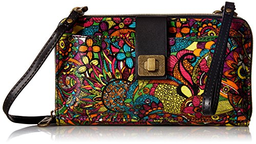 Sakroots Artist Circle Large Smartphone Cross-Body Phone Wallet,Rainbow Spirit -
