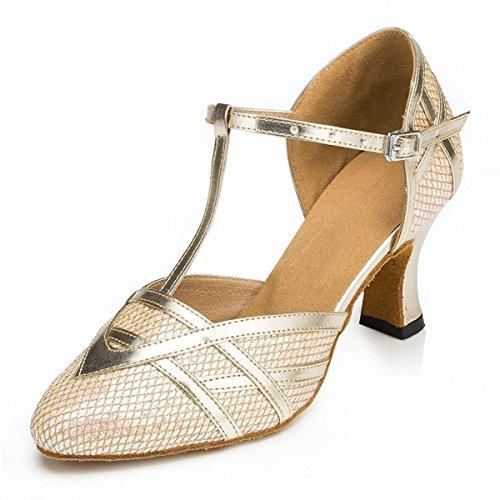 bal Gold Heel de Miyoopark 7cm femme Salle Exq7OwO0p