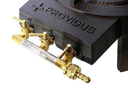 proweltek rechaud gaz 3 robinets fonte 4 pieds. Black Bedroom Furniture Sets. Home Design Ideas
