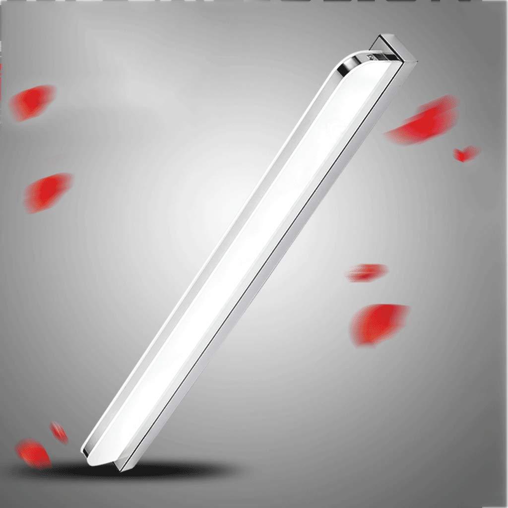 15W LED Spiegelleuchte - 16.5 Wandlampe Badezimmerlampe, Edelstahlspiegelscheinwerfer, Make-uplampenbadspiegellampe weißes Licht 6000K (Größe   Weiß light52CM)