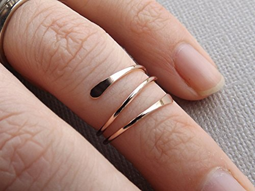 14k Gold or Rose Fill Knuckle Ring, Knuckle Rings,Mid Rings,Above knuckle ring, Toe Rings, Rings, Rose or Gold Fill Knuckle Ring