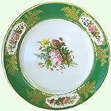 Devonshire Chatsworth serve Green Painted Tin Enamel Plate–picnic o campeggio