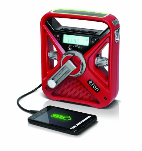Eton FRX3 Hand Turbine AM / FM NOAA Weather Alert Radio with Smartphone Charger - Red, NFRX3WXR by Eton (Image #2)