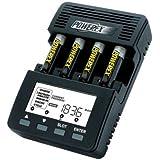 Powerex Maha MH-C9000 - Caricabatteria-analizzatore WizardOne per 4 battere AA/AAA
