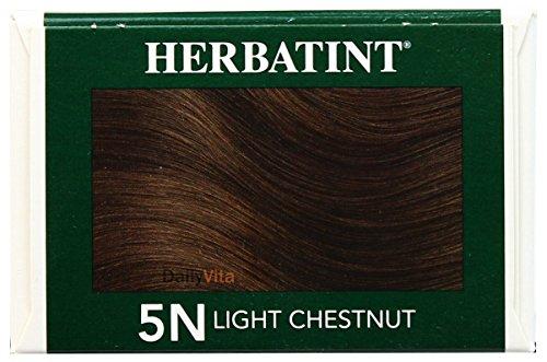 Herbatint Permanent Herbal Haircolor Gel, 5N Light Chestnut, 4.56 Ounce