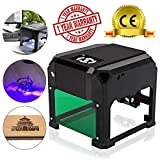TopDirect 3000mw Laser Engraving Machine Mini Laser Engraver Printer CE Approved Working Area 7.5X7.5CM for DIY Logo Marking with Certification