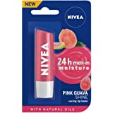 NIVEA Lip Balm, Pink Guava Shine, 4.8g