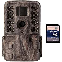 Moultrie M-40i 16MP 80 FHD Video No Glow IR Game Trail Camera + 8GB SD Card