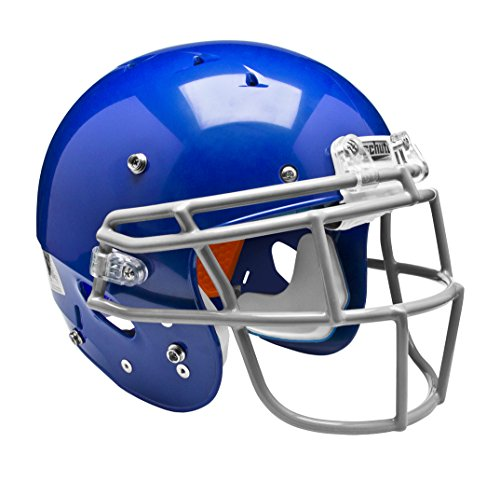 Schutt Sports 798004 Youth Recruit Hybrid Football Helmet (Faceguard Not Included), Royal Blue/Sigma, X-Small