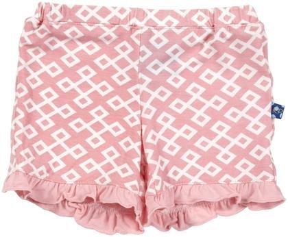 Kickee Pants Print Ruffle Shorts (Baby) - Lotus Geo-6-12 Months