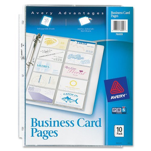Amazon Avery Business Card Pages Pack Of 10 76009 2 Office Products