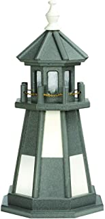 product image for DutchCrafters Decorative Lighthouse - Wood, Cape Henry Style (Dark Grey/White, 4)