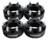 Supreme Suspensions - (4pc) 2004-2014 Ford F150 2'' Hub Centric Wheel Spacers 6x135mm with Lip + M14x2 Studs [Black]