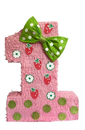 APINATA4U Strawberry Theme Number One Pinata 23
