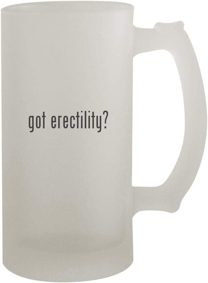 got erectility? - 16oz Frosted Beer Mug Stein, Frosted