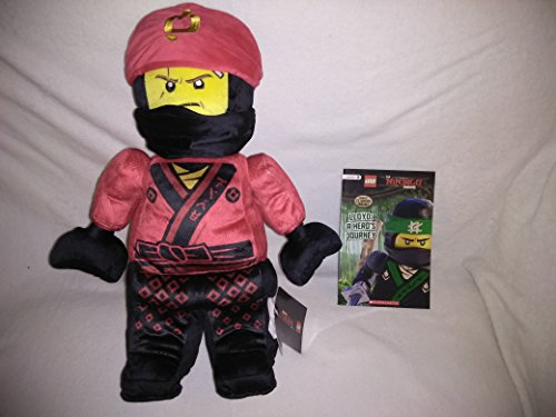 Large Jumbo Lego Ninjago Movie Plush Kai Red Warrior Fire Ninja New With Tags 21'' Inches and Level 2 Softcover Lego Book Lloyd: A Hero's Journey ()