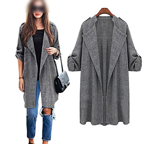 Overcoat Cardigan Coat Jackets 1 Autumn Women Front Spring Long Kidly Jackets Open Waterfall Cloak Blusas RwvqzC7