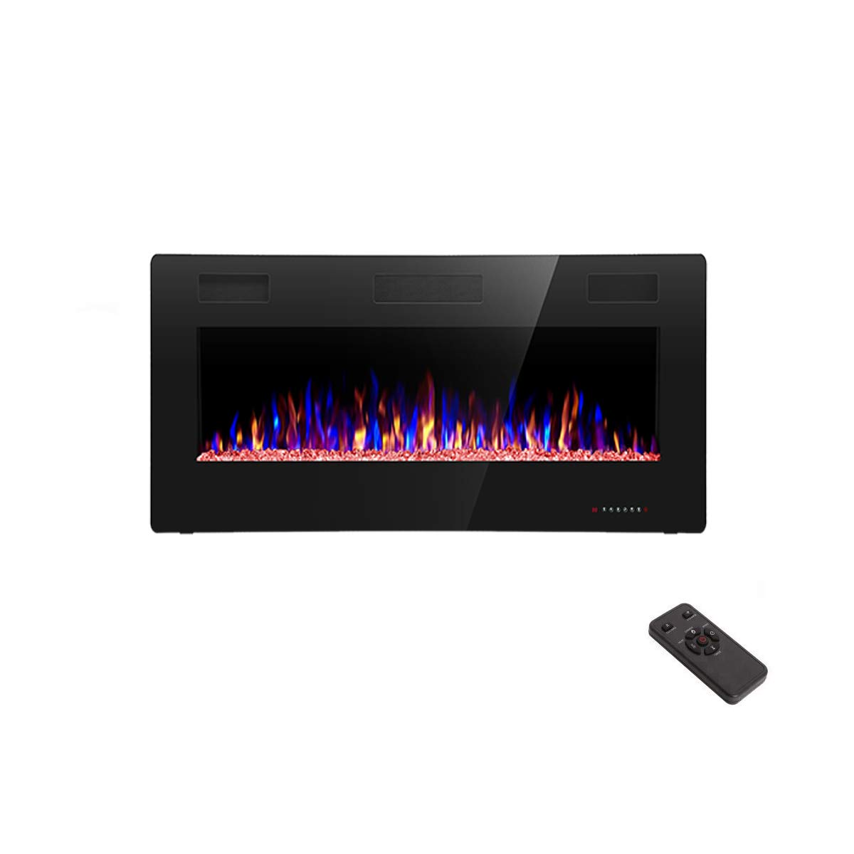 R.W.FLAME 36 inch Recessed and Wall Mounted Electric Fireplace