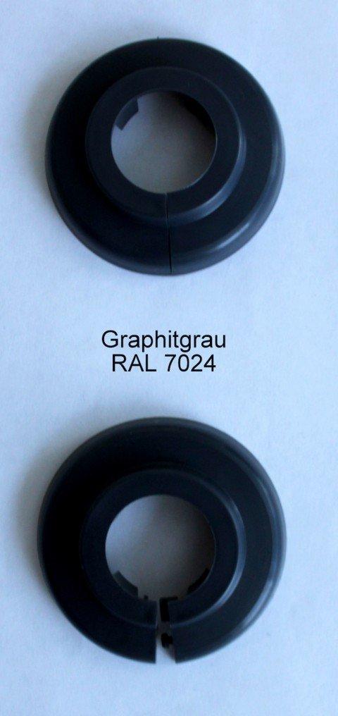 Ú nico de rosetones para tubos de calefacció n, protectora para tubos de calefacció n, calefacció n, 2 unidades, 15 mm, 18 mm, 22 mm polipropileno en especial de colores: gris, marró n de & Negro d