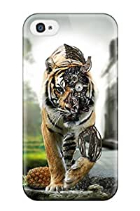 Tara Mooney Popovich's Shop Fashionable Style Case Cover Skin For Iphone 4/4s- Cyborg Cat 5869492K49285746