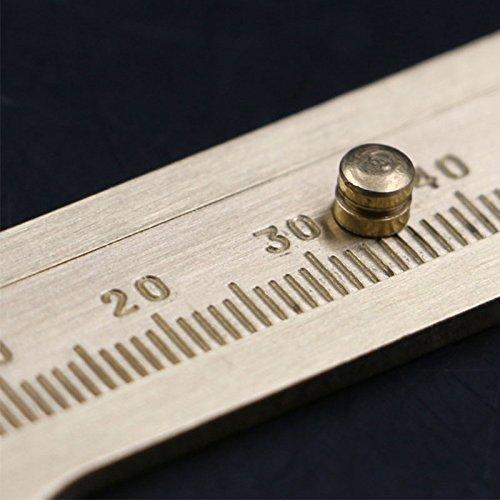 Merssavo /Échelle coulissante en laiton /échelle Portable Vernier Caliper R/ègle poche outil de mesure