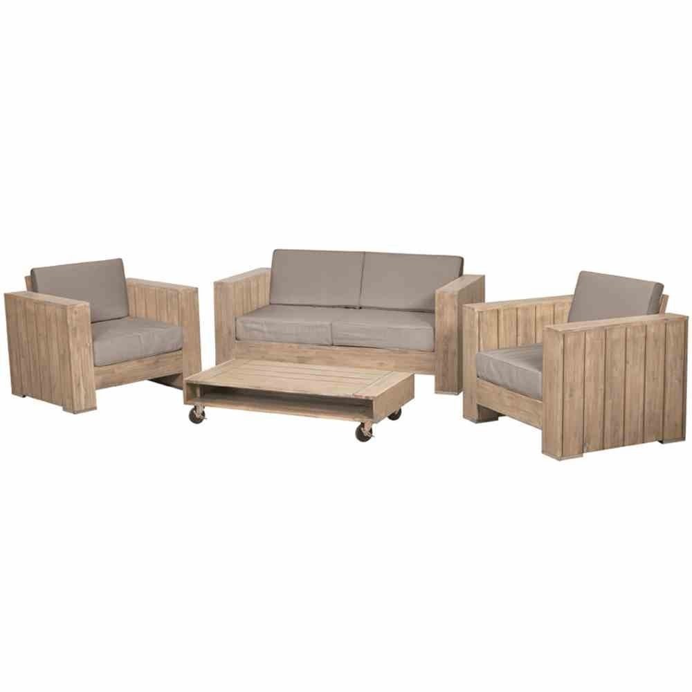 Siena Garden Hochwertige Bauholz Lounge Halmstad, FSC zertifiziertes Akazienholz