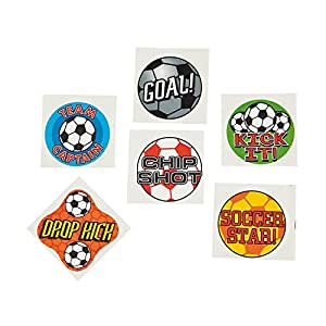 Fun Express Temporary Soccer Tattoos (6 Dozen)