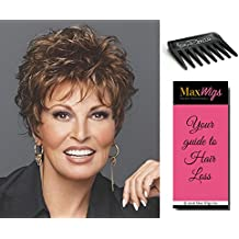 Whisper Wig Color R11S - Raquel Welch Women's Wigs Wavy Layered Boy Cut Memory Cap Bundle with Comb, MaxWigs Hair Loss Booklet