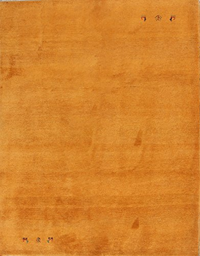 Rug Source New Solid Color Persian Oriental Hand Knotted Wool Gabbeh Area Rug 6x8 Orange (8' 2