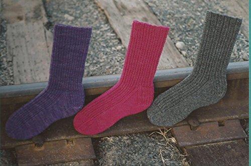 Fiber Trends Railroad Rib Socks Knitting Pattern AC-51