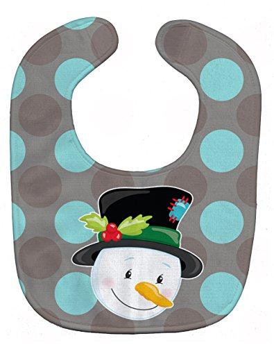 Caroline's Treasures Christmas Snowman Baby Bib, Multicolor, Large