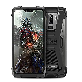 Blackview BV9700 Pro Rugged Unlocked Cell Phones International, Dual Nano SIM 6GB Ram 128GB Rom 4380mAh Battery,IP68/IP69K Waterproof Android 9.0 Octacore P70 5.84inch Screen,NFC for Att Tmobile(Gray)