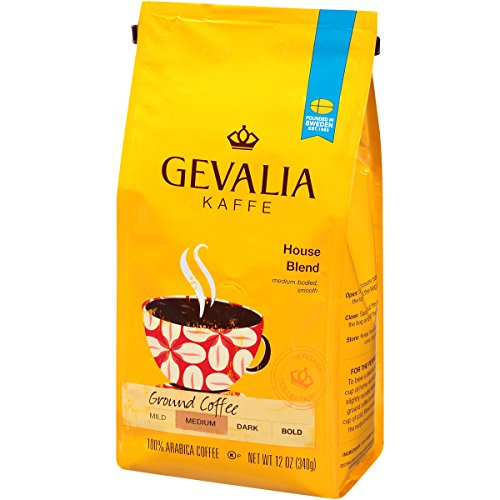 Gevalia Ground Coffee, House Blend,12 oz Bag (Pack of 6)