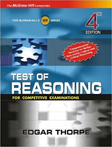 Test of Reasoning for Competitive Examinations 4th Edition price comparison at Flipkart, Amazon, Crossword, Uread, Bookadda, Landmark, Homeshop18