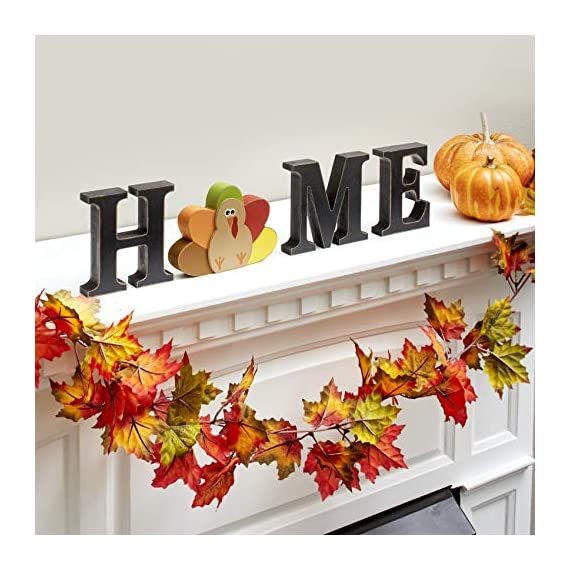 "The Lakeside Collection Wooden Decorative Home Signs with Letters, Pumpkin, Turkey, Snowflake - 13 Pc. - This 13-Pc. set of decorative holiday figures and signs is a fun and simple way to celebrate the time of year. Kids and children especially will enjoy getting to change the icon for each season. Features characters representing Thanksgiving, Halloween, Christmas, and all four seasons. Place on your mantel, counter, dining table or shelf when you're getting ready for the next season. A perfect housewarming gift, you can arrange the pieces next to each other to spell out ""HOME"". You can also replace the ""O"" with any one of 10 icons that represent the season. - living-room-decor, living-room, home-decor - 51oQSS1%2BhbL. SS570  -"