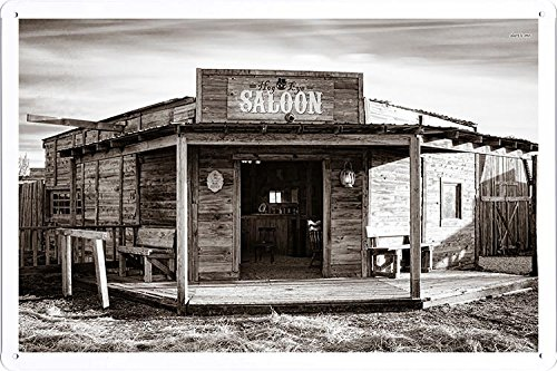 Old Western Saloon Tin Poster by Food & Beverage Decor Sign ()