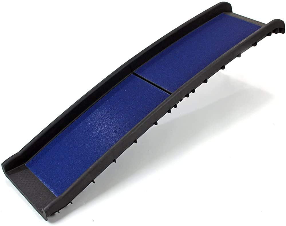 JKABCD Pliante Rampe de s/écurit/é pour Personnes /âg/ées ou handicap/ées Chiens s/écurit/é Chien Pliage Voie Plastique,Blue