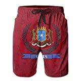 Qinf New Cartoon Fashion Coat Of Arms Of Galmudug Men's Beach Pants Casual Shorts For Man