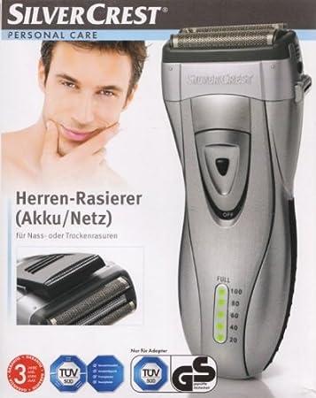 Silvercrest SFR 1200 A1 - Maquinilla de afeitar para hombre (incluye batería y cargador): Amazon.es: Salud y cuidado ...
