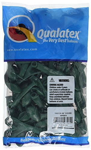 5 Inch Green - Qualatex 43561 Green Latex Balloons, 5