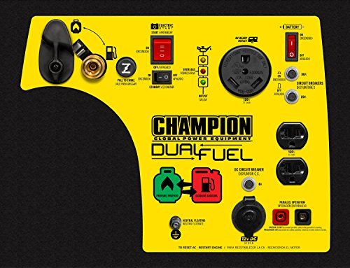 Control panel and wiring plugs for Champion 3400-Watt Quiet Portable Generator