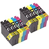 10x 16XL FCI Compatible Printer Inks Cartridges To Replace Epson Pen Ink Cartridge For Epson Workforce WF2010w, WF2510WF, WF2520NF, WF2530WF, WF2540WF, WF2630WF, WF2650, WF2660, WF2750, (Voted Best Printer Brand by Which Magazine 2017)