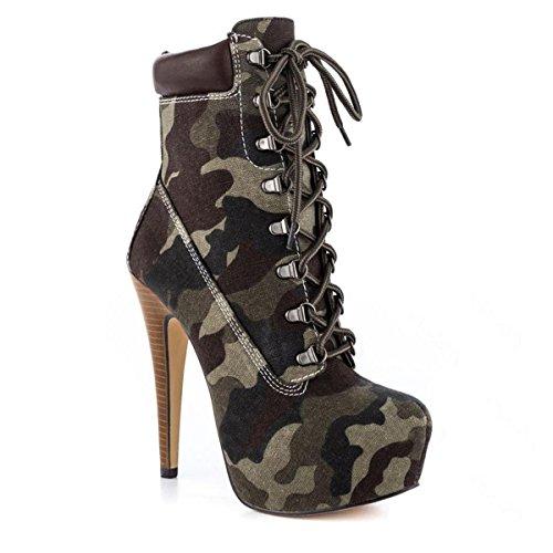 Damen Zehenkappe Heels Pumps Kurzschaft Boots Onlymaker Stiefeletten High Stiefel g7xwdqfRnf