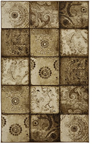 (Mohawk Home Free Flow Artifact Panel Neutral Patchwork Printed Area Rug, 5'x8', Tan)