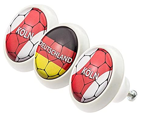 Ceramic Knobs Assorted Set 0176 Soccer Football National League ...